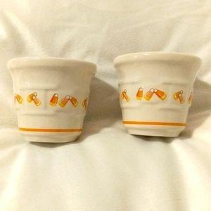 Longaberger Candy Corn Votive Cups 2